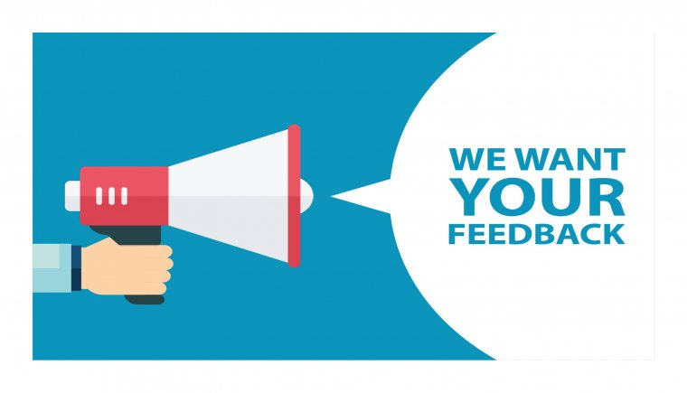 We want your feedback